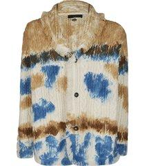 alanui multicolor wool cardigan