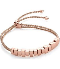 rose gold linear ingot bracelet