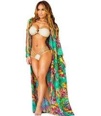 vestido sexy cárdigan vestido de gasa abrigo extra largo capa vestido de playa blusa g041