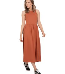 vestido largo para mujer ladrillo rutta