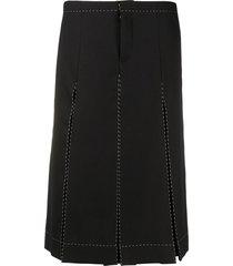 maison margiela box-pleat high-waist culottes skirt - black