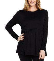 motherhood maternity peplum maternity sweatshirt