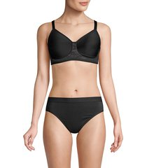 wacoal women's final touch underwire bra - black - size 40 dd