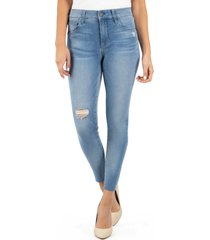 women's kut from the kloth connie ripped high waist ankle skinny jeans