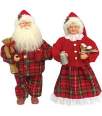 "santa's workshop 15.5"" pajama mr. and mrs. claus set"