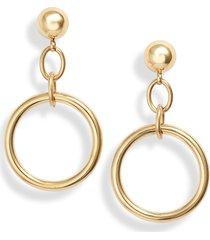 women's knotty chain link hoop drop earrings