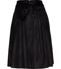 ada knot skirt knälång kjol svart r/h studio