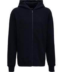 a-cold-wall black jersey hoodie with logo