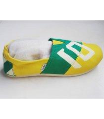 alpargatas sport tipo color amarillo