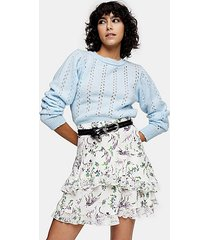 idol blue pretty pointelle sweater - pale blue