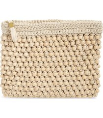 madewell the beaded crochet pouch clutch -
