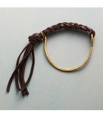 tassled stirrup bangle bracelet
