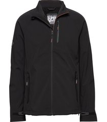 stretch softshell jacket dun jack zwart superdry