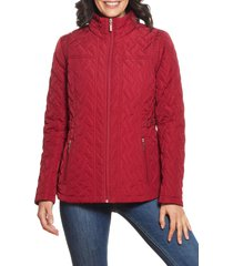 women's gallery quilted jacket, size large - red