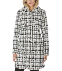 laundry by shelli segal single-breasted tweed walker coat