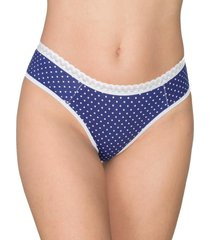 calcinha tanga plus size vip lingerie estampada azul