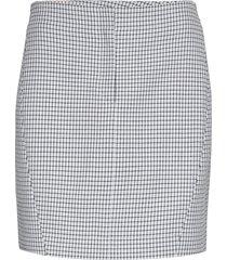 dicte skirt 11477 kort kjol blå samsøe & samsøe