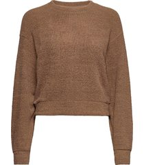 addison sweater sweat-shirt tröja brun gina tricot