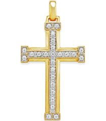 men's diamond cross pendant (3/8 ct. t.w.) in 10k gold