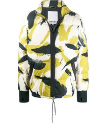 abstract-print padded jacket