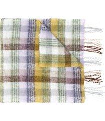 altea tartan knit scarf - neutrals