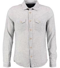 petrol zacht slim fit overhemd chalk white