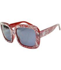 óculos de sol marmorizado mackage mk86004v vermelho