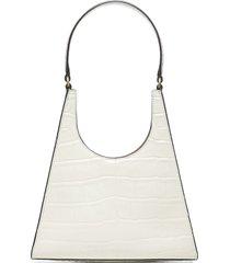 staud rey crocodile-effect leather bag