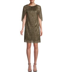 eastern luxe hima metallic cape dress