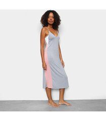 camisola cor com amor dress midi alça - feminino