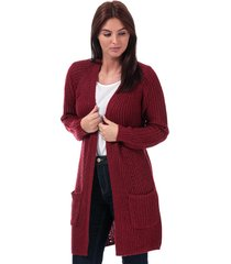 only womens bernice open cardigan size 4 in red