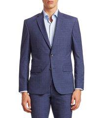 saks fifth avenue men's modern suit jacket - blue - size 44 r