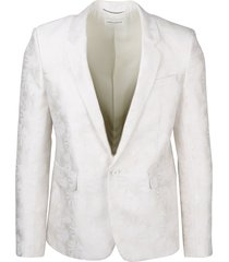 jacquard blazer met patroon