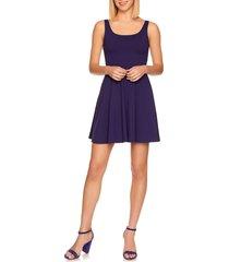 susana monaco knit tank skater dress, size medium in purple at nordstrom