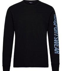 bjørnø tee l/s t-shirts long-sleeved svart h2o