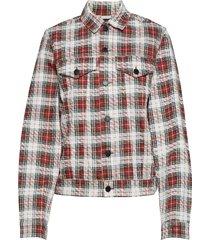 legit jacket relax check jeansjacka denimjacka röd cheap monday