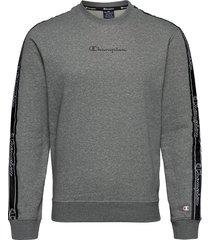 crewneck sweatshirt sweat-shirt tröja grå champion