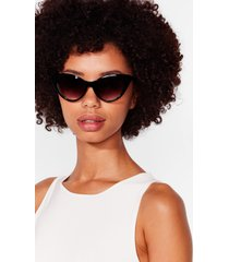 womens can't take my cat-eyes off you sunglasses - black
