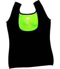 neoprene body shaper sweat tshirt slimming top weight loss women (large)