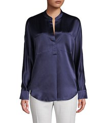 long-sleeve silk top