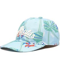'paula ibiza' waterlily print canvas cap