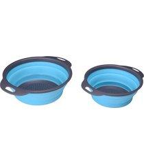 1 / 2pcs cesta de desagüe plegable cesta de lavado de cocina para rebanadora redonda de frutas