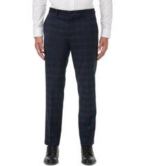 armani exchange men's modern-fit navy windowpane suit separate pants
