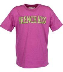 "cotton jersey ""french kiss"" t-shirt"
