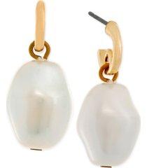 laundry by shelli segal gold-tone imitation pearl drop earrings