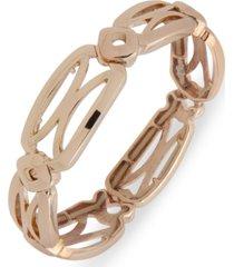 anne klein gold-tone openwork stretch bracelet