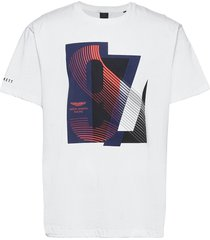b&t amr racing print t t-shirts short-sleeved vit hackett london