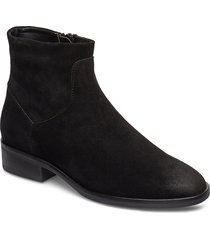 pure rosa shoes boots ankle boots ankle boot - flat svart clarks