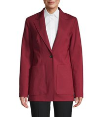 3.1 phillip lim women's notch lapel wool-blend jacket - dark lipstick - size 6