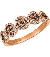 14k strawberry gold® chocolatediamonds® & vanilla diamonds®chocolatier® ring
